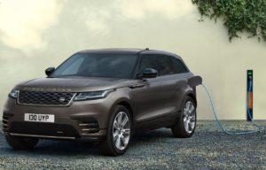 2022 Range Rover Velar Auric Edition P400e charging