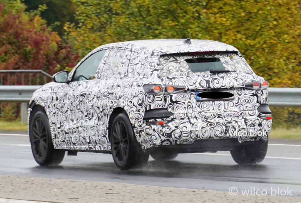 Audi Q6 e-tron rear three quarters spy shot