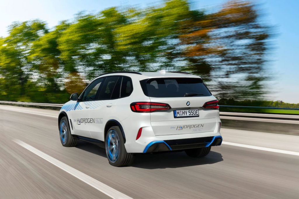 BMW iX5 Hydrogen rear three quarters