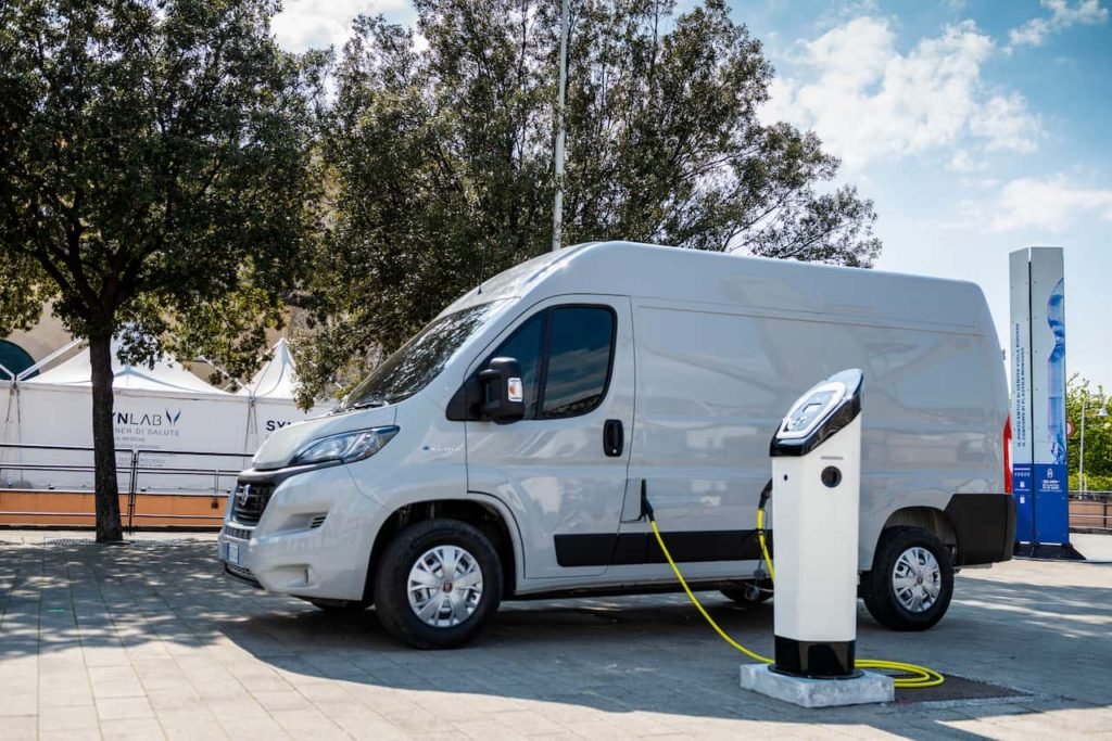 Fiat E-Ducato electric van charging - could be the technical cousin of the Ram ProMaster EV
