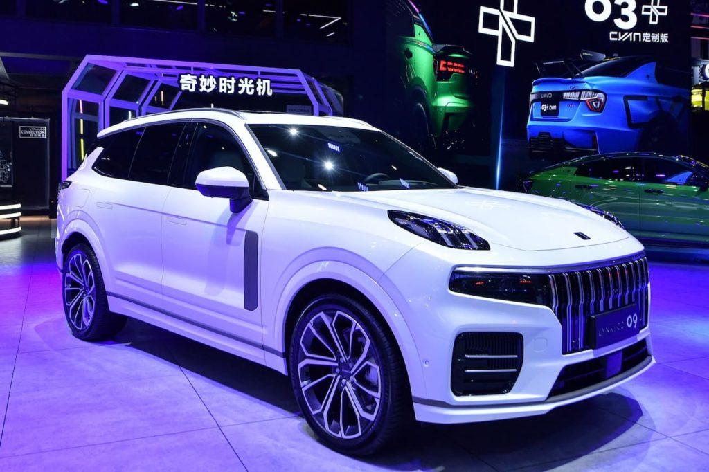 Lynk & Co 09 front three quarters 2021 Chengdu Motor Show