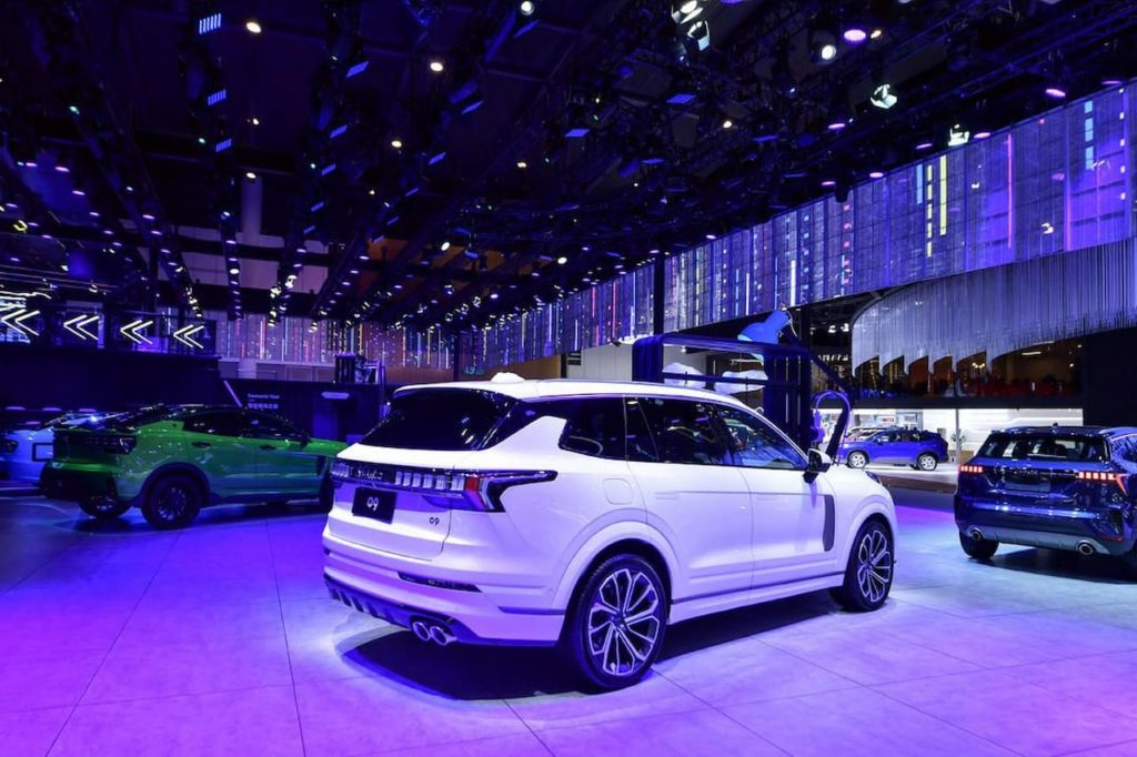 Lynk & Co 09 rear three quarters 2021 Chengdu Motor Show