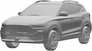 MG ZS PHEV front three quarters patent image