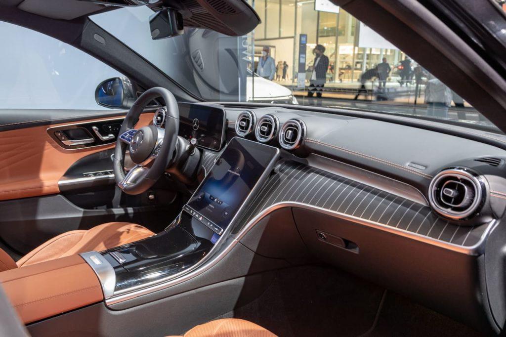 Mercedes C-Class All-Terrain interior dashboard IAA 2021