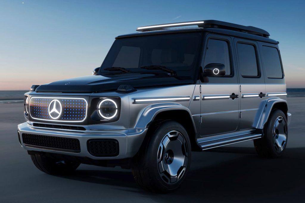 Mercedes EQG concept front three quarters