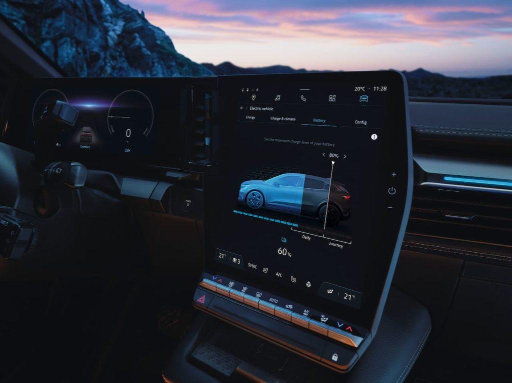 Renault Megane E-Tech Electric touchscreen center console