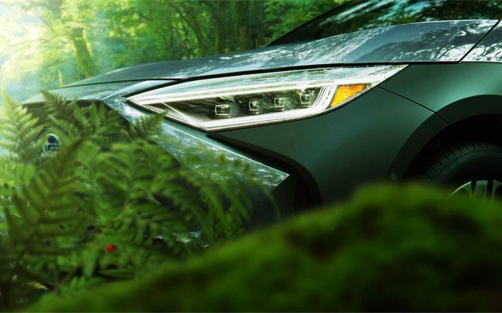 Subaru Solterra EV headlamp teaser