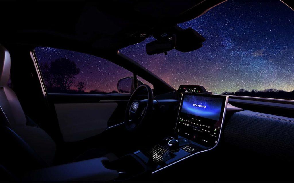 Subaru Solterra EV interior teaser