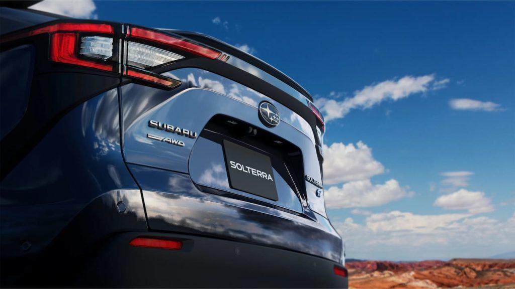 Subaru Solterra EV rear teaser