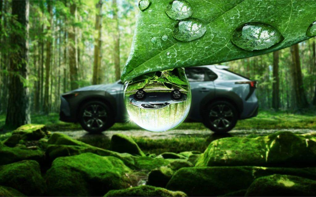Subaru Solterra EV side profile teaser