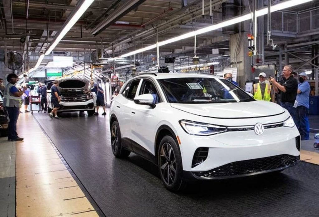 VW ID.4 Chattanooga plant assembly line
