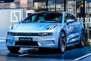 Zeekr 001 front three quarters 2021 Chengdu Motor Show