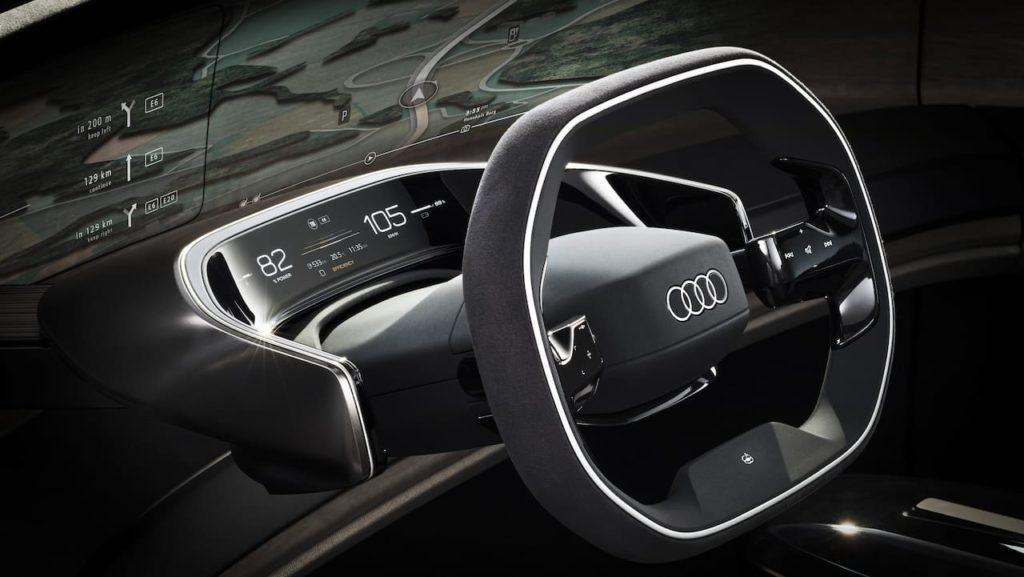 Audi grandsphere interior steering instrument cluster