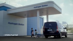 Hydrogen-powered Hyundai Staria Fuel Cell EV