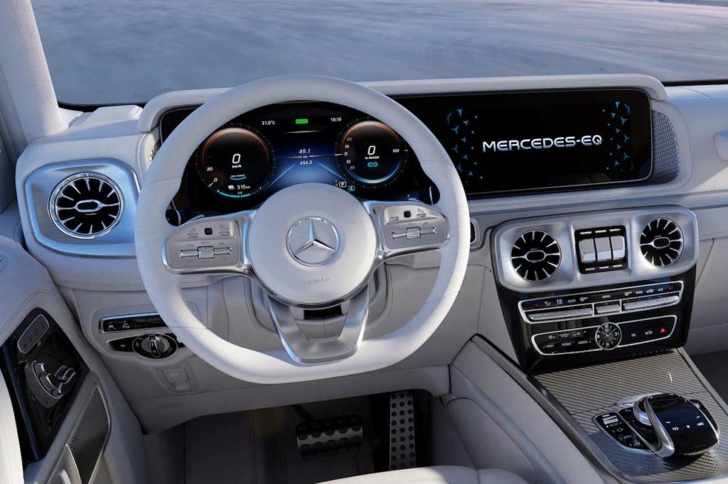 Mercedes EQG concept dashboard driver side
