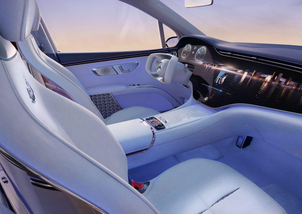 Mercedes-Maybach EQS SUV concept interior front seats