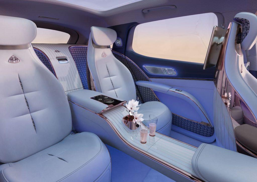 Mercedes-Maybach EQS SUV concept interior rear seats