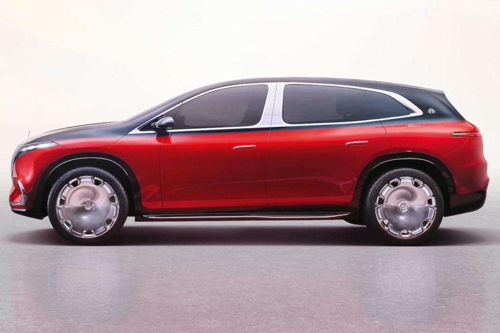 Mercedes-Maybach EQS SUV concept side profile
