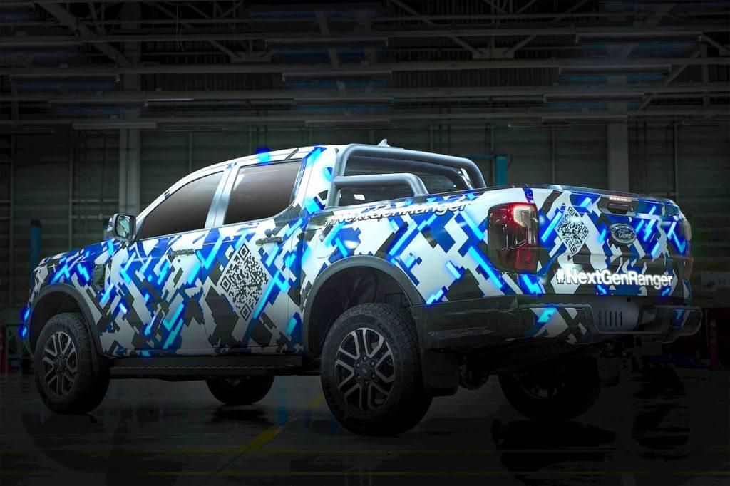 Next-gen Ford Ranger rear teaser