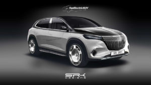 Production Mercedes-Maybach EQS SUV rendering