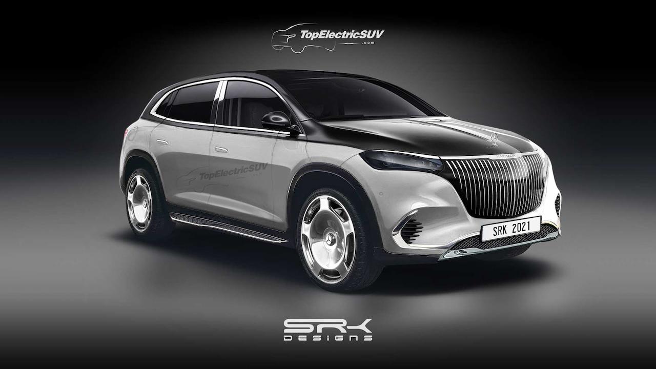 Producción de renderizado SUV Mercedes-Maybach EQS