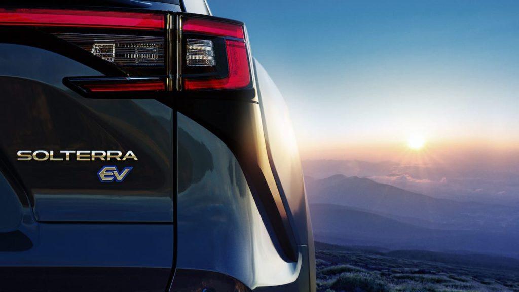 Subaru Solterra tail lamp