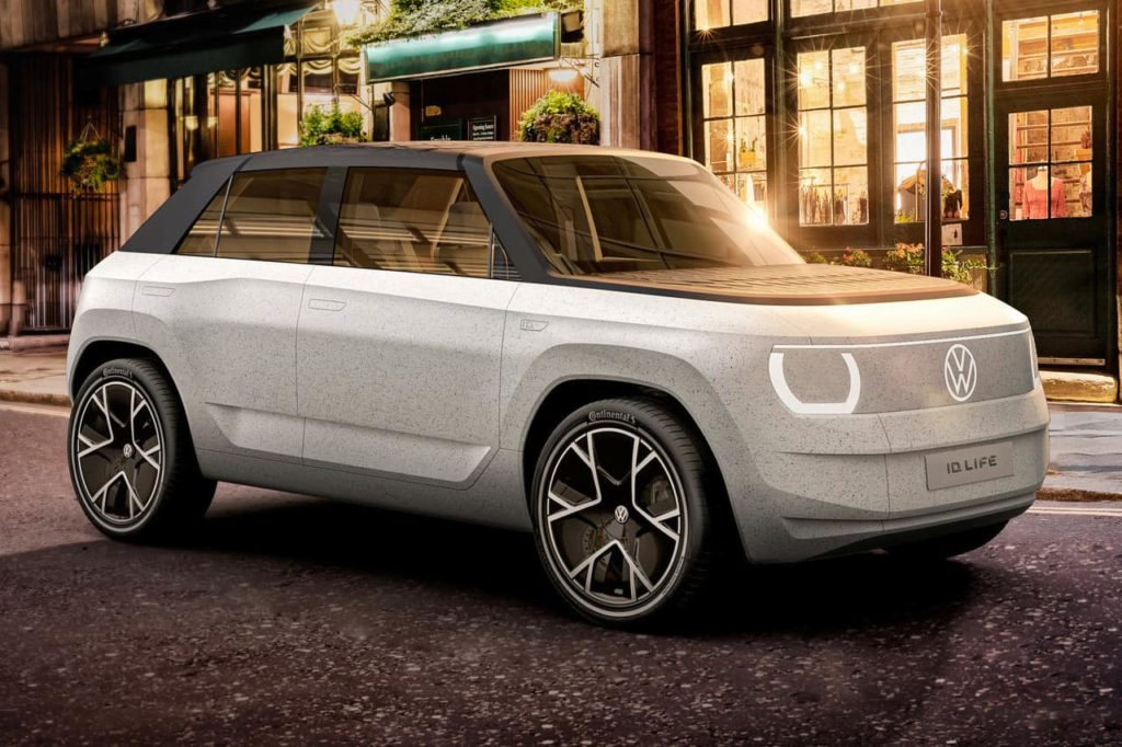 VW ID. Life concept previewing the VW ID.2 front three quarters right side