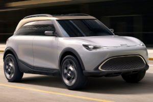 smart Concept #1 smart SUV front three quarters dynamic
