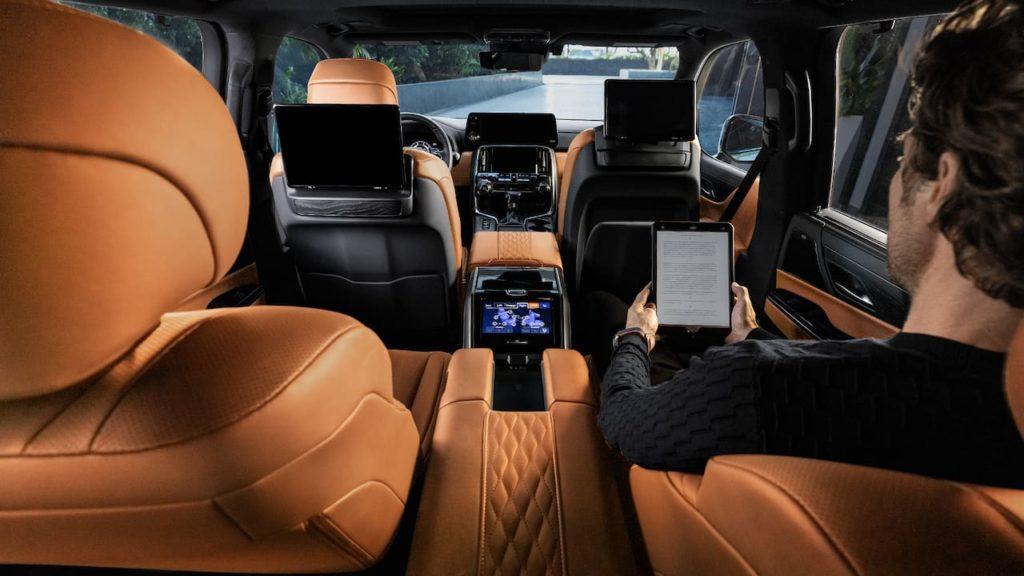 2022 Lexus LX interior cabin