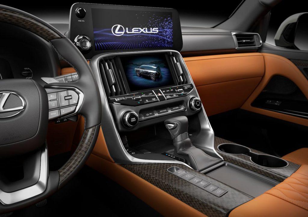 2022 Lexus LX interior center console