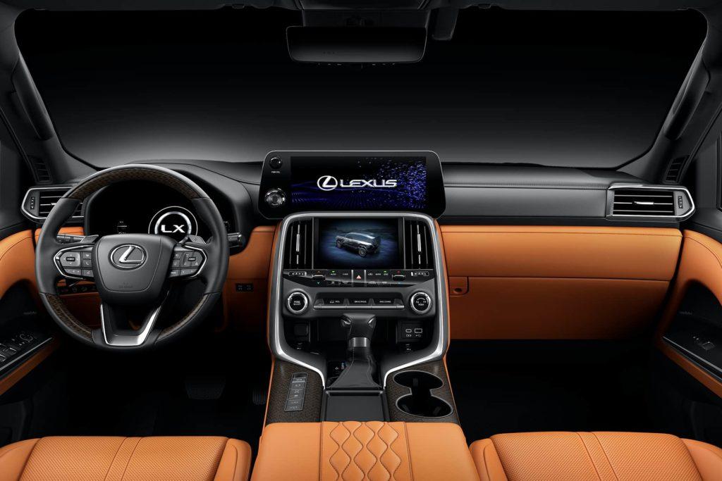 2022 Lexus LX interior dashboard