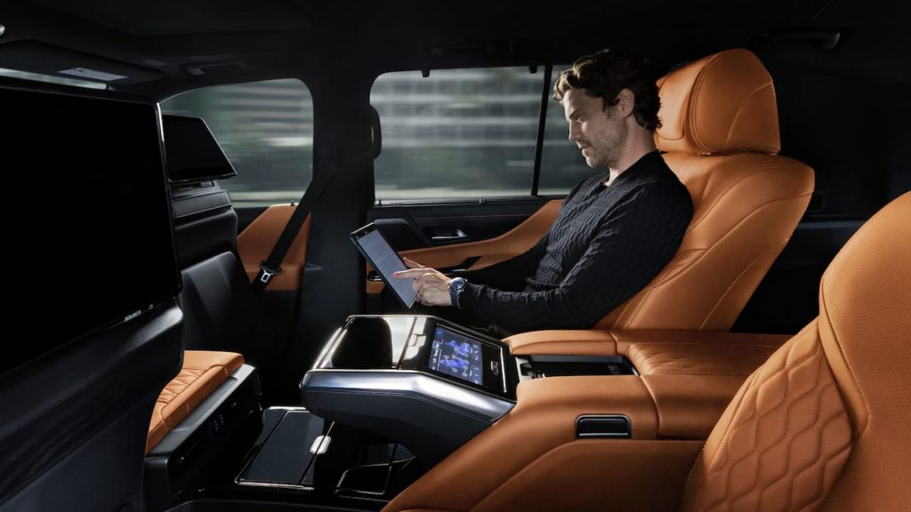 2022 Lexus LX interior rear seats