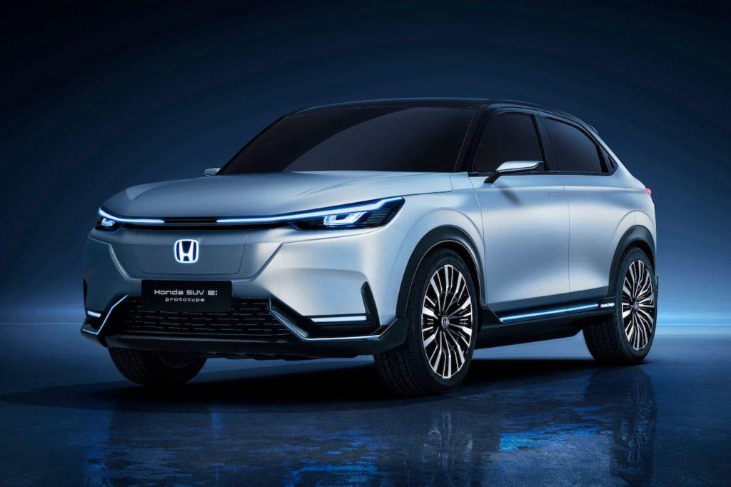 Honda SUV e prototype front three quarters
